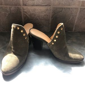 Michael Kors Olive Suede Mules